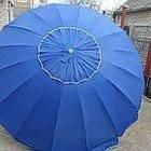 Торговый зонт с клапаном и серебристым напылением 2.5м