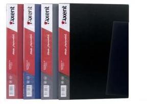 Папка на 20 файлов А4 пластиковая Axent 1020 дисплей-книга серая