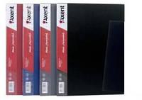 Папка на 20 файлов А4 пластиковая Axent 1020 дисплей-книга серая, фото 1