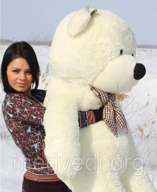 Огромный белый медведь плюшевый 200 см