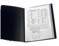 Папка на 80 файлов А4 пластиковая Axent 1280 дисплей-книга черная