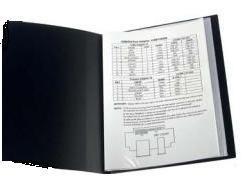 Папка на 100 файлов А4 пластиковая Axent 1200 дисплей-книга черная