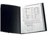 Папка на 100 файлов А4 пластиковая Axent 1200 дисплей-книга черная, фото 1