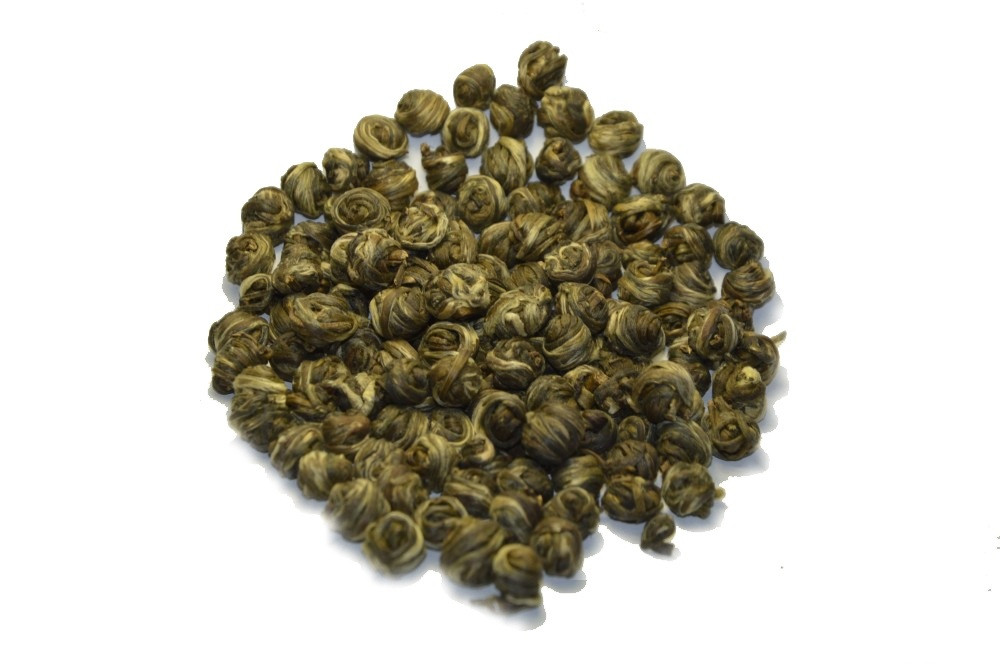 Китайский элитный чай Хуа Лун Чжу Жасминовая Жемчужина Дракона. 1 категория