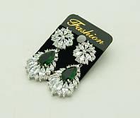 Купить длинные серьги с кристаллами Сваровски .263
