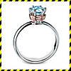Эксклюзивное золотое кольцо -Elegance- с голубым бриллиантом 0,62 ct.