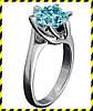 Золотое кольцо -Stile- с голубым с бриллиантом 0,64 карат! 750 проба.