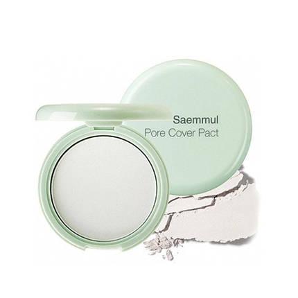 Матирующая бесцветная пудра The Saem Saemmul Perfect Pore Pact, фото 2