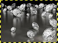 Бриллианты натуральные белые, круг 1,3 мм.
