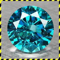 Голубые натуральные Бриллианты, круг 1,0 мм.