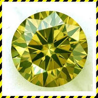 Жёлтые натуральные Бриллианты, круг 1,0 мм.