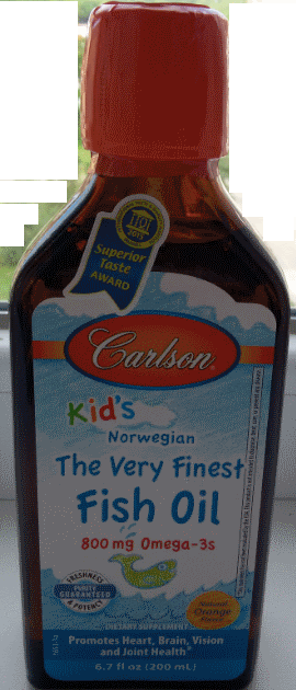 Дитячий риб'ячий жир, Carlson, Kids Omega-3 Chewable DHA, Bursting Orange, 200 ml