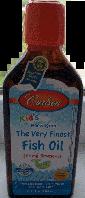 Детский рыбий жир, Carlson,  Kids Omega-3 Chewable DHA, Bursting Orange, 200 ml