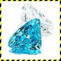 Голубой натуральный Бриллиант 0,43 карат, круг 5,08 мм. Сертификат!