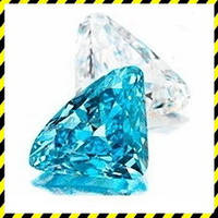 Голубой натуральный Бриллиант 0,53 карат, круг 5,05 мм. Сертификат!
