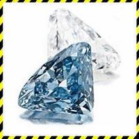Голубой натуральный Бриллиант 0,57 карат, круг 5,19 мм. Сертификат!