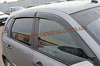Дефлекторы окон (ветровики Cobra Tuning) для ВАЗ 1119 LADA Калина Хэтчбек 2013+