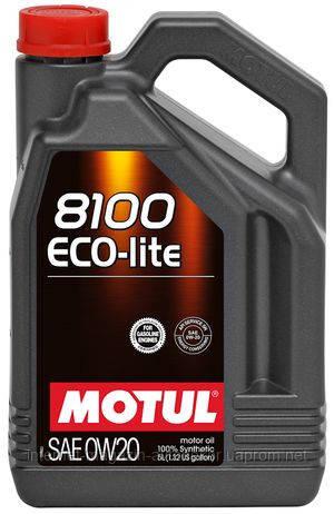 MOTUL 8100 ECO-LITE 0W-20 100% СИНТЕТИЧЕСКОЕ (5л)