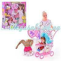Кукла Defa 8049 беременная с ребенком и коляской: 2 вида