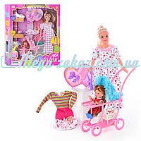 Кукла Defa беременная с ребенком и коляской: 2 вида