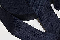 Резинка декоративная 50мм (27м) т.синяя, фото 1
