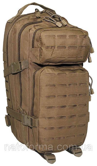 Рюкзак тактический, штурмовой, Assault I Laser, MFH, coyote tan