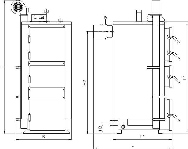 ALTEP КТ-2Е  стальной  твердотопливный котел длительного горения