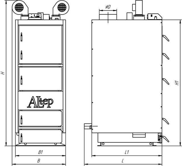 ALTEP КТ-2ЕN стальной  твердотопливный котел длительного горения