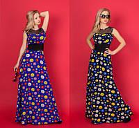Платье летнее в пол №908 (р.44)