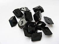Стразы пришивные. Черные, 13х17 мм