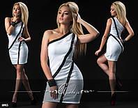 Платье мини с черными полосами