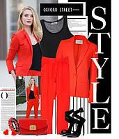 Сочетание цветов в одежде: красный – страсть и вызов.