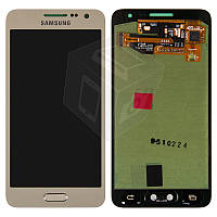 Дисплей + touchscreen (сенсор) для Samsung A3 A300F / A300FU / A300H, золотой, оригинал