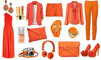 Сочетание цветов в одежде: оранжевые краски и желтый цвет солнца