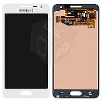 Дисплейный модуль (дисплей + сенсор) для Samsung Galaxy A3 A300F / A300FU / A300H, белый, оригинал