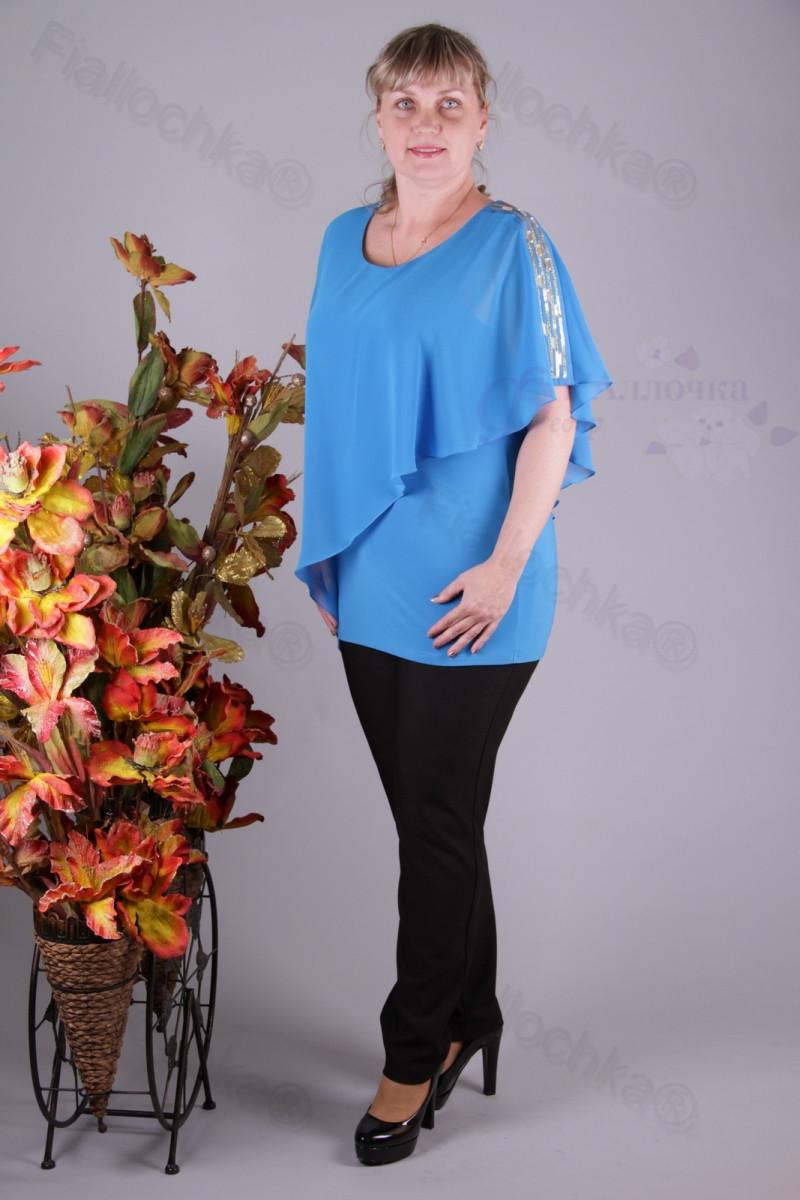 Блуза 2901-436/3 шифон больших размеров оптом