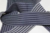 Резинка декоративная 50мм (27.5м) т.синий+белый, фото 1