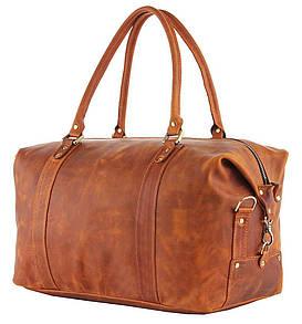 Модная дорожная сумка в винтажном стиле из натуральной кожи 12244