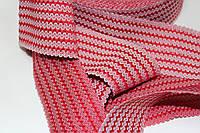 Резинка декоративная 50мм (27.5м) красный+белый, фото 1