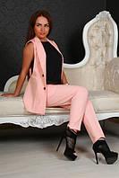 Элегантный костюм с жилеткой и брюками 7/8  (10 расцветок)1014, фото 1