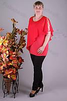 Блуза 2904-436/3 шифон больших размеров оптом