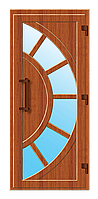 Пластиковые входные двери модель 3