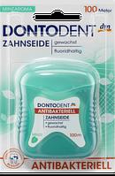 DONTODENT Zahnseide antibakteriell, 100 m - Зубная нить антибактериальная, со вкусом мяты, 100 м
