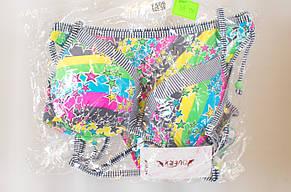 Яскравий роздільний жіночий купальник з принтом в зірочки, фото 2