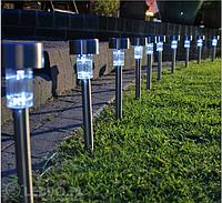 Садовый светильник 10 шт. солнечной батарее Стальные Polux