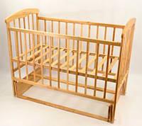 Деревянная кроватка для детей с маятником Наталка