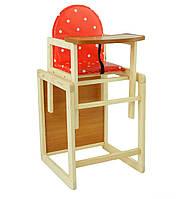 Детский деревянный стульчик для кормления Горох