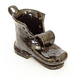 Оригинальная пепельница, шкатулка, предмет для интерьера, старый  Башмак, Германия, Керамика, фото 5