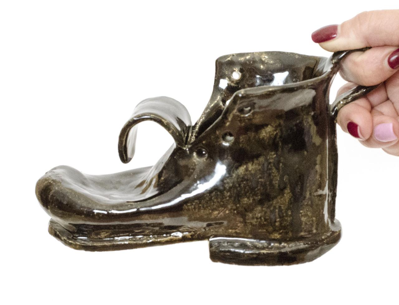 Оригинальная пепельница, шкатулка, предмет для интерьера, старый  Башмак, Германия, Керамика