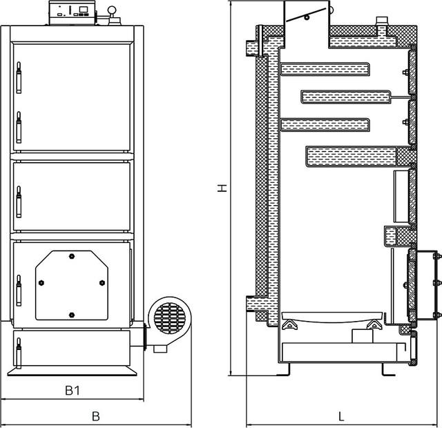 ALTEP КТ-2ЕU стальной  твердотопливный котел длительного горения